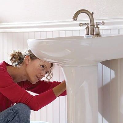 ayaklı lavabo montajı
