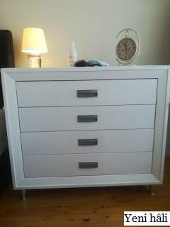X1 ile boyanmış mobilya