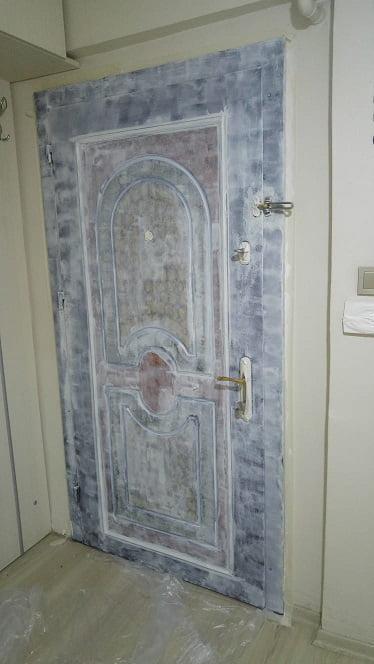 çelik kapıyı beyaza boyamak