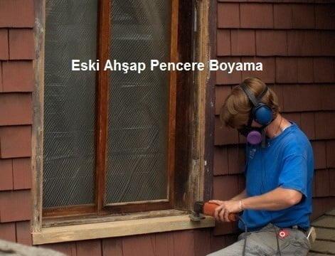 eski ahşap pencere boyama