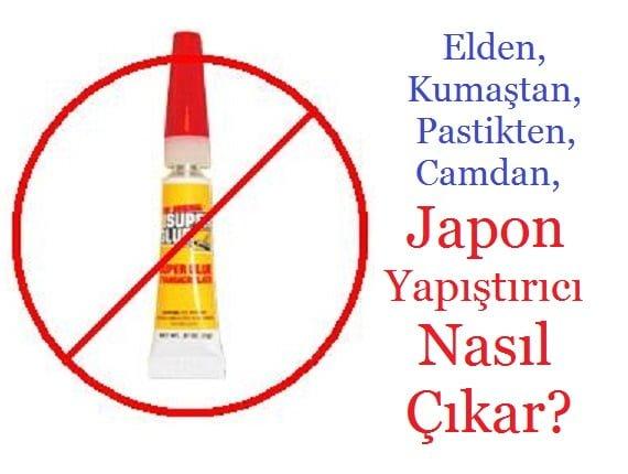 japon yapıştırıcı nasıl çıkar