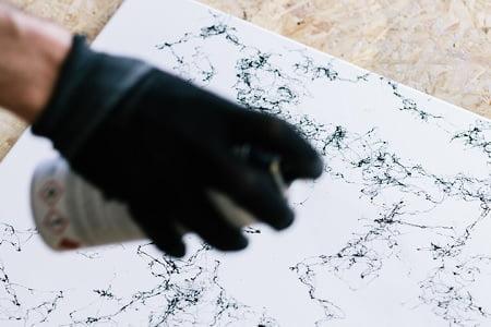 mermer boyama tekniği