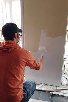 sentetik boya ile buzdolabı boyama
