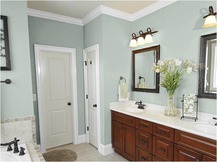 yeşil banyo duvarı rengi