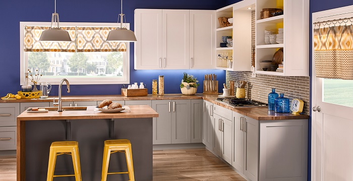 mutfak duvar rengi mavi