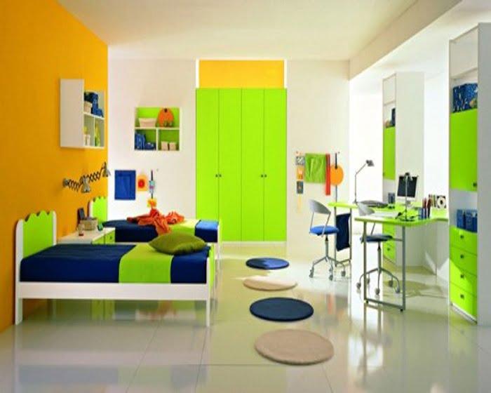 yesil çocuk odası duvar rengi