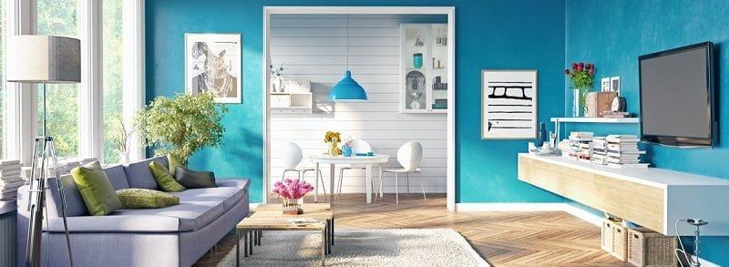 turkuaz oturma odası rengi