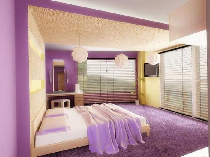 lila yatak odası renk