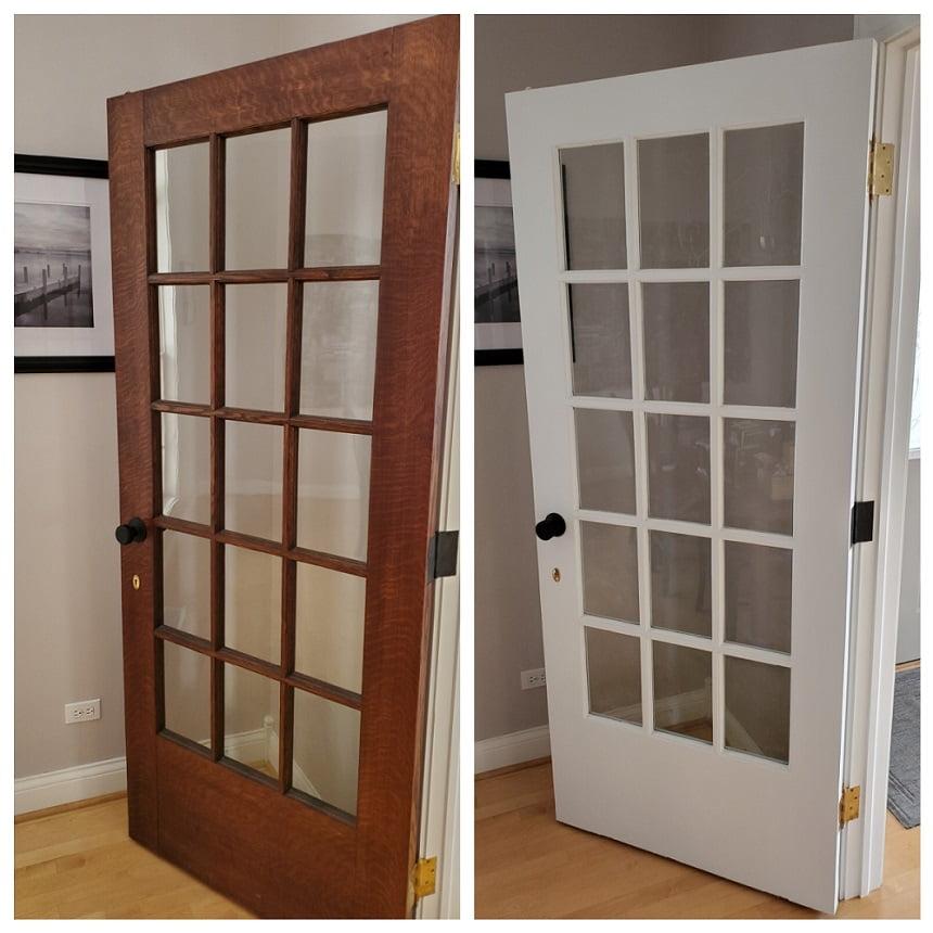 koyu kapıyı beyaza boyama