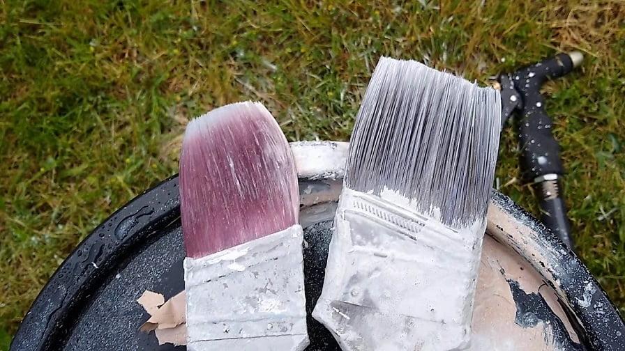 kurumuş boya fırçası temizleme