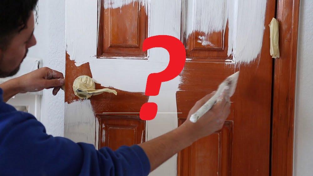 kahverengi kapıyı beyaza boyama