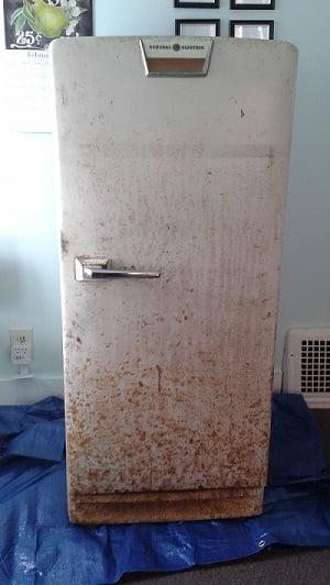 paslı buzdolabı boyama
