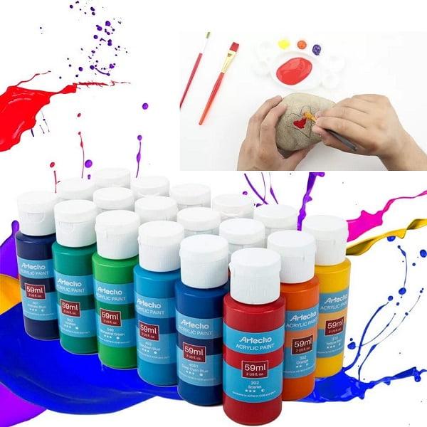 Akrilik boya ile taş boyanır mı