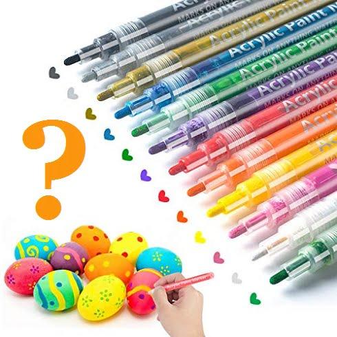 Edding taş boyama kalemi ile tas boyama