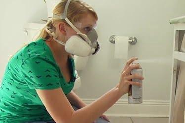 Sprey boya ile mutfak dolabı boyama