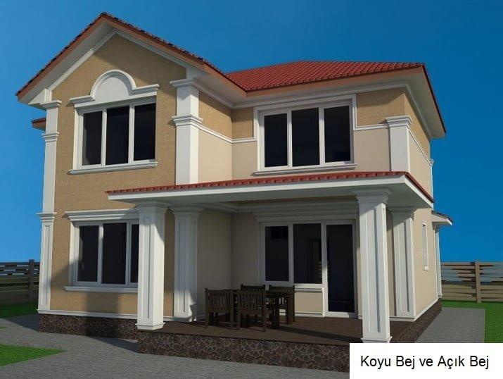2 katlı ev dış cephe boya renkleri