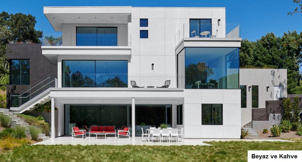 3 katlı ev dış cephe boya renkleri
