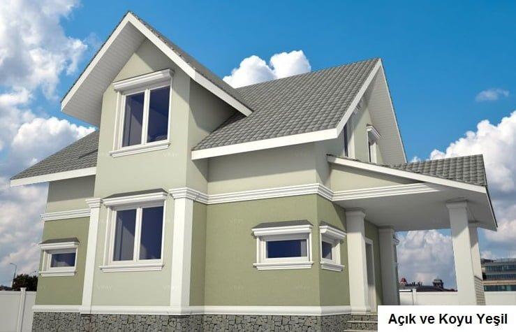 dublex ev dış cephe boya örnekleri