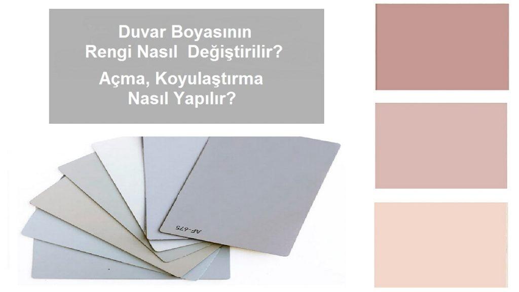 duvar boyası renk değiştirme
