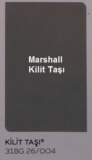 marshall kilit taşı rengi