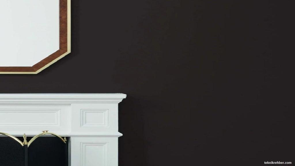siyah duvar boyama