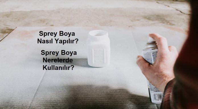 sprey boya kullanımı