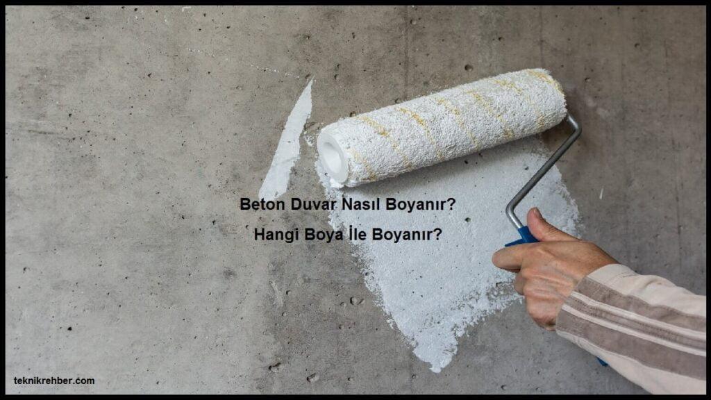 beton duvar boyama