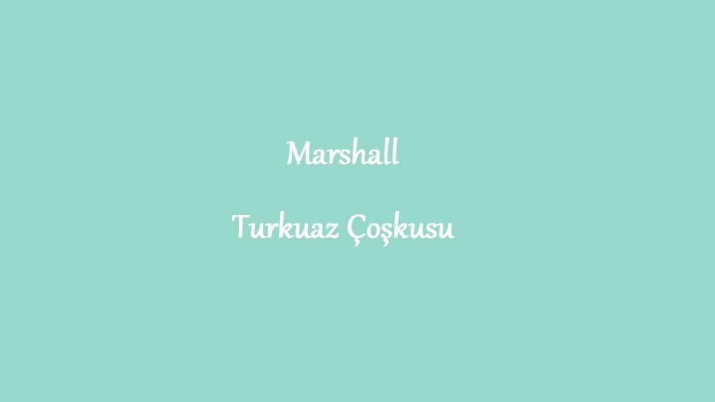 Marshall turkuaz coşkusu