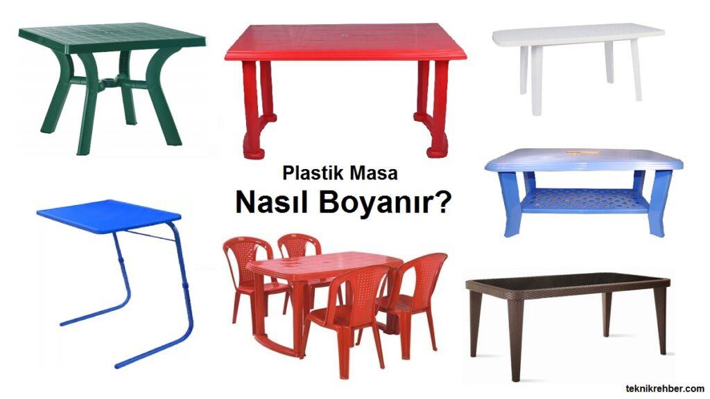 plastik masa neyle boyanır