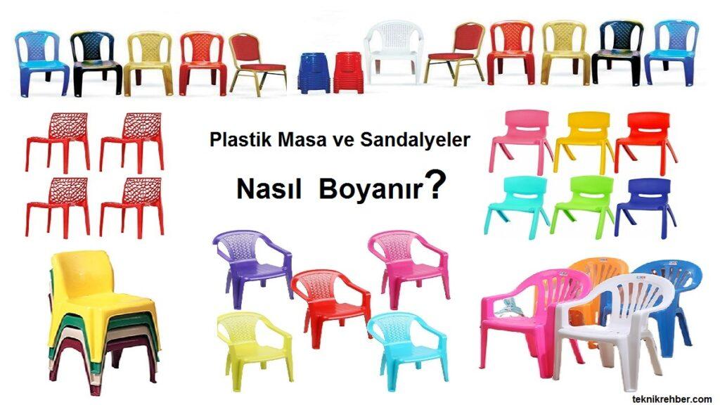 plastik masa sandalye boyama