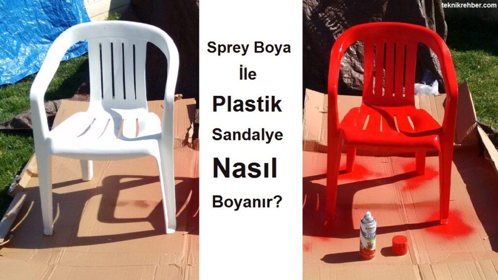 sprey boya ile plastik sandalye boyanır mı