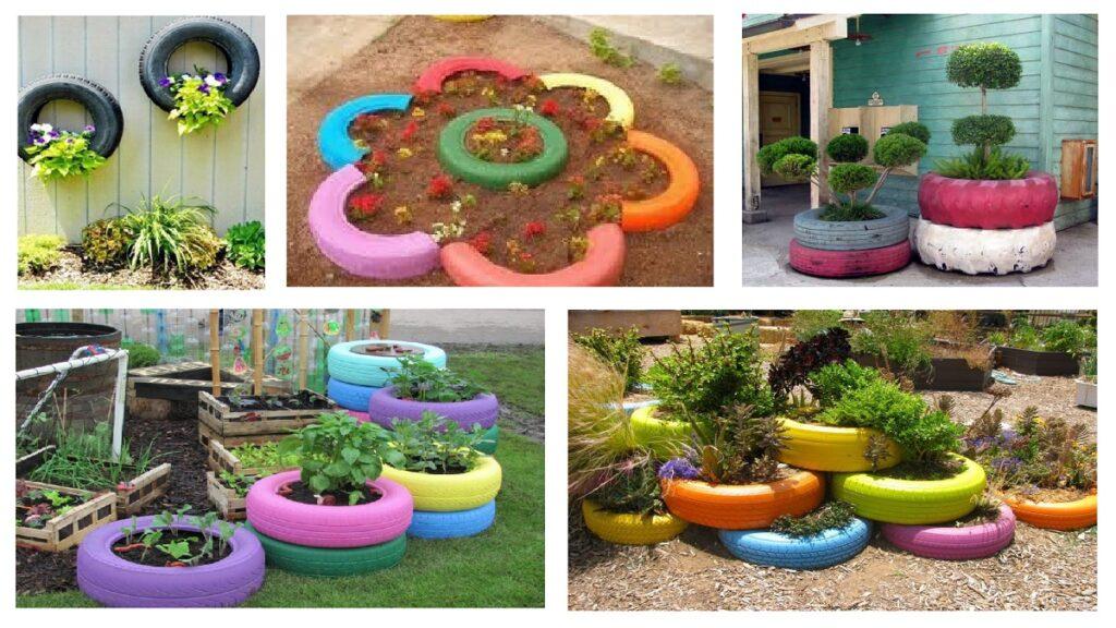 lastik boyama bahçe